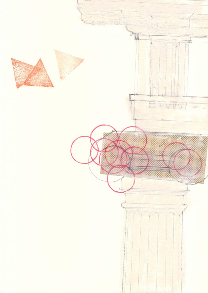marta colombo pompei drawing