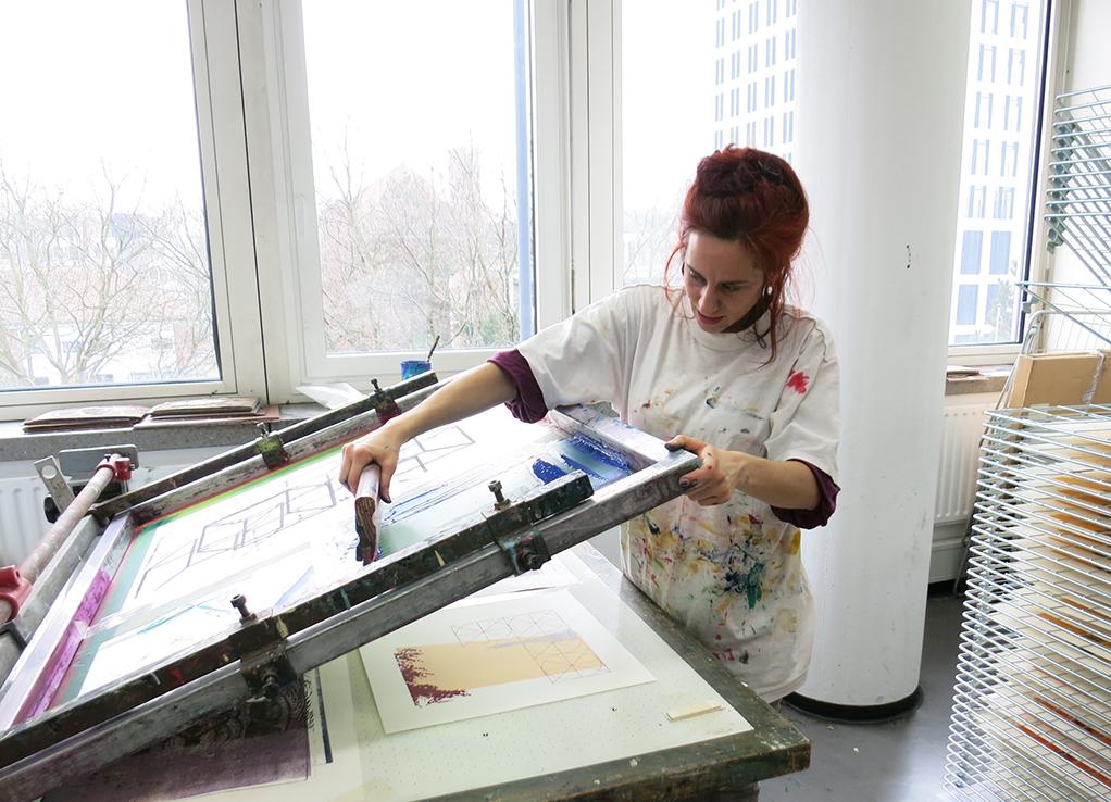 Marta Colombo Screen printing 2017